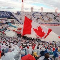 La cérémonie d'ouverture des Jeux d'hiver de 1988 à Calgary