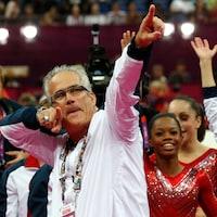 John Geddert avec l'équipe américaine aux Jeux de Londres