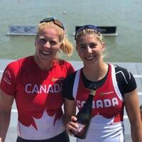 Laurence Vincent-Lapointe (gauche) et Katie Vincent (droite)