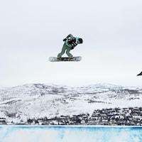 Laurie Blouin en slopestyle aux mondiaux de Park City