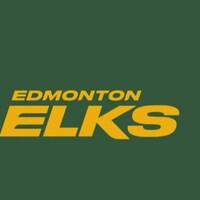 Un élan et le nom Edmonton Elks.
