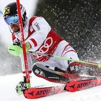 Marcel Hirscher au slalom d'Adelboden