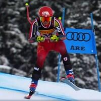Marie-Michèle Gagnon durant le super-G des Championnats du monde d'Are