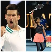 Trois joueurs de tennis