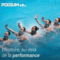 L'équipe canadienne de natation artistique présente son programme libre lors du tournoi de qualification olympique tenu à Rio de Janeiro, au Brésil, en mars 2016.