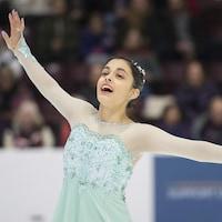 Madeline Schizas aux Championnats canadiens 2018 à Mississauga.
