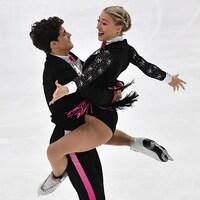 Ils font un porté au Grand Prix ISU de Moscou.