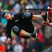 Le planchiste Pierre-Luc Gagnon en action aux X Games à Munich, en Allemagne