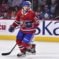 Ryan Poehling patine durant un match contre les Maple Leafs.