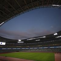 Image de l'aire de jeu du stade olympique de Tokyo