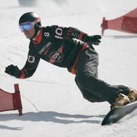 L'Ontarien Darren Gardner en action sur sa planche
