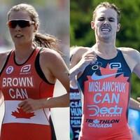 Joanna Brown (à gauche) et Tyler Mislawchuk en action