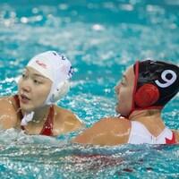 Les Canadiennes contre les Chinoises en quarts de finale de la Super finale de la Ligue mondiale.