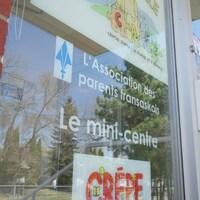 Entrée de l'Association des parents fransaskois à Saskatoon.