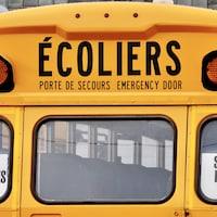 Un autobus scolaire au Nouveau-Brunswick le 19 janvier 2021.