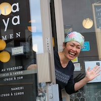 La cheffe propriétaire du restaurant japonais Tora-ya Ramen, Miyano Sakai.