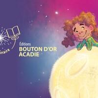 Une affiche d'un personnage de Bouton d'or Acadie.