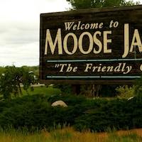 Panneau de la ville de Moose Jaw.