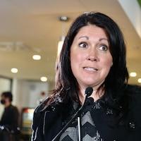 Marie-Josée Savard est candidate à la mairie de Québec.