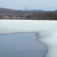 Le lac Saint-Charles gelé