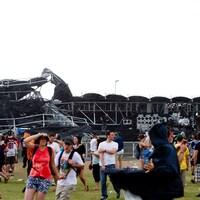 Effondrement d'une scène lors du Bluesfest d'Ottawa en 2011.