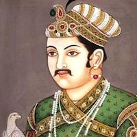 Une illustration d'un empereur dans des habits luxueux, assis sur un trône, à côté d'un oiseau.