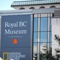 Photo de l'entrée du musée royal de la Colombie-Britannique à Victoria.