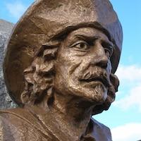 Un buste du personnage de Théodore Bochart.