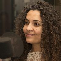Yara El-Ghadban au studio 30 de Radio-Canada, à Montréal, en décembre 2017