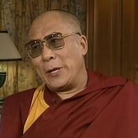 Le dalaï-lama en entrevue.