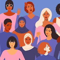 Illustration de femmes de différentes origines.