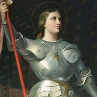 Jeanne d'Arc au sacre de Reims, par Dominique Ingres, 1854