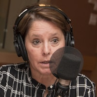 Michèle Ouimet au studio 18 de Radio-Canada, le 2 octobre 2017