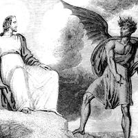Une gravure de la tentation de Jésus-Christ par R. Westall