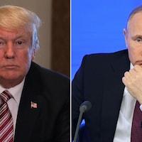 Le président américain, Donald Trump,  et le président russe, Vladimir Poutine