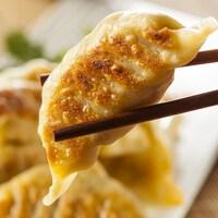 Une photo prise de dumplings