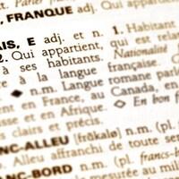 Le mot  « français » dans le dictionnaire.