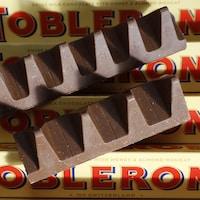 Des tablettes de chocolat de la marque Toblerone