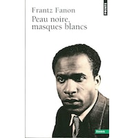 La page couverture du livre sur lequel on voirt la photo d'une homme noir.