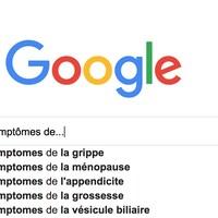 Capture d'écran d'une recherche sur Google avec la question « Quels sont les symptômes de... »