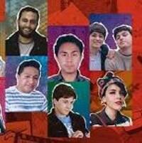 Les photos de dix jeunes d'Iran, Mexique et même du Canada, avec le sigle d'un timbre poste jaune d'Amnistie internationale et dessus le slogan de la campagne: Marathon d'écriture Écrire ça libère!