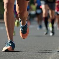 Un coureur de marathon