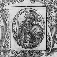 Gravure du 16e siècle représentant Charles Martel.