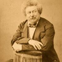 Photo d'Alexandre Dumas datant de 1850.