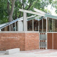 Façade du pavillon du Canada à Venise.