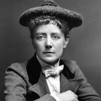La compositrice Ethel Mary Smyth (1858 - 1944).