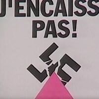 Manifestation contre la violence homophobe dans une rue de Montréal