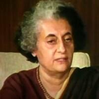 Indira Gandhi en 1975.
