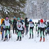 Skieurs aux Jeux du Québec