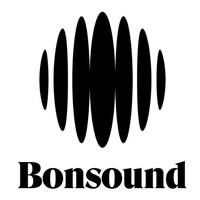 Logo du label Bonsound : des ellipses noires sur fond blanc.